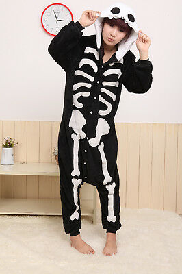 Skeleton Animal Onesies Kid Adult Unisex Kigurumi Skull Costume Cosplay Pajama