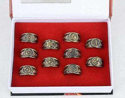 DZ790 Naruto Akatsuki Members Sharingan Rings SET 10pc Cosplay Sasuke Kakashi #