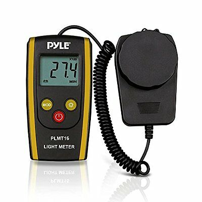 Pyle PLMT16 - Digital Handheld Photography Light Meter with - Measures Lux and