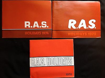 3 Vintage R.a.s. Ramblers Holiday Brochures Walking Mountaineering 1970's