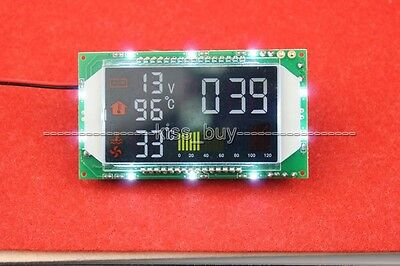 Digital Time Voltage Dual Temperature Display Module for Car interior/ wate tank