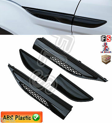 RANGE ROVER EVOQUE SIDE VENTS AIR WING VENTS FRONT GRILLE 2010up GLOSS BLACK