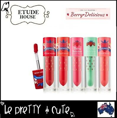 ETUDE HOUSE BERRY DELICIOUS COLOR IN LIQUID LIPS 3.5g (10 Colours) lip balm tint