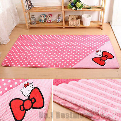 Modern Cute Hello Kitty Carpet Mat Rugs for Kids Children Living Room Home Decor