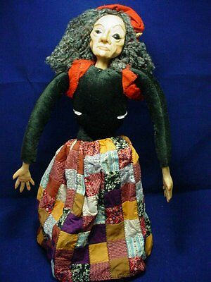 "OOAK Witch 20"" Doll  By Vermont Doll Works Artist Betty Perrin"