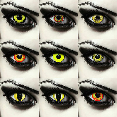 Yellow colored Pennywise costume contacts exorcist contact lenses for halloween