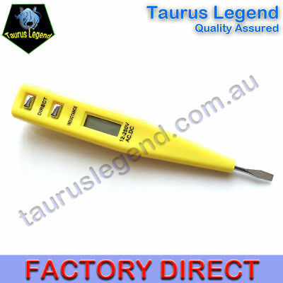 AC/DC Non-Contact Basic Digital LCD 12-220V Voltage Tester Screwdriver 9115