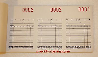 Dry Cleaner Invoices / Tickets - 3 Part Carbonless Forms