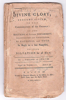 1782 1St Ed. Divine Glory, Brought To View, In The Condemnation Of The Ungodly