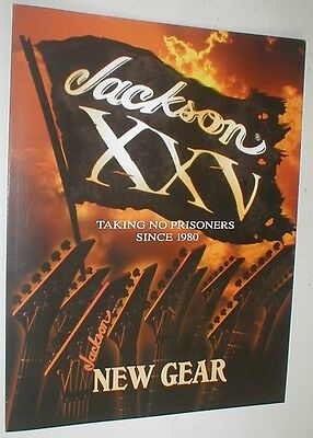 Jackson XXV Guitar Bass Catalog Brochure Features Phil Collen PC1 Chris Beattie