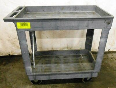 Rubbermaid Service Cart, Rcp9T6600Gra, 2 Shelf Cart, 400# Cap. 9T6600 Gray