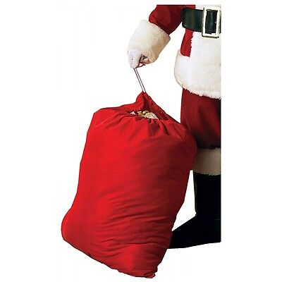 Velour Santa Toy Bag Claus Sack Costume Accessory Adult Christmas