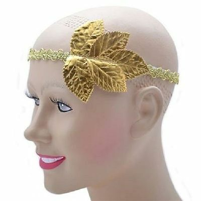 Roman Greek Gold Laurel Leaf Headband Fancy Dress Costume Accessory – BN