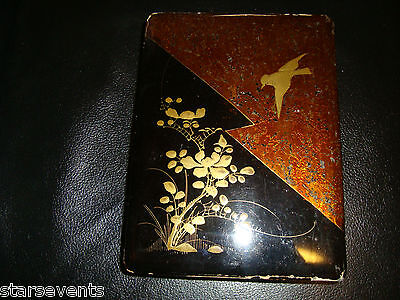Antique Japanese laquer box 19th century Like Lightning nice design old fragile