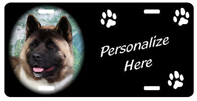 Akita   Personalized Automobile License Plate