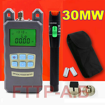 Fiber Optical Power Meter 25-30km 30Mw Visual Fault Locator Cable Tester FTTH