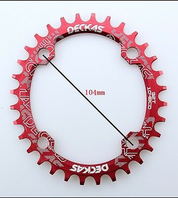 chainring oval circle 32T 34 36 38 BCD104mm MTB bicycle narrow wide Single speed