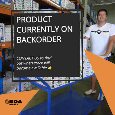 DIMP SLOTTED FRONT DISC BRAKE ROTORS+GLK PADS for Holden WB UTE/VAN 1980-85