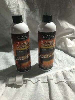 New Lot of 2 (12oz) DUTCH GLOW Amish Wood Milk With Sprayer - As Seen On TV