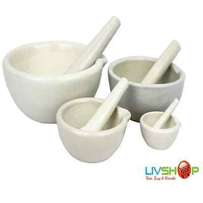 Mortar and Pestle 60mm/30ml, 130mm/300ml, 160mm/500ml, 210mm/1L