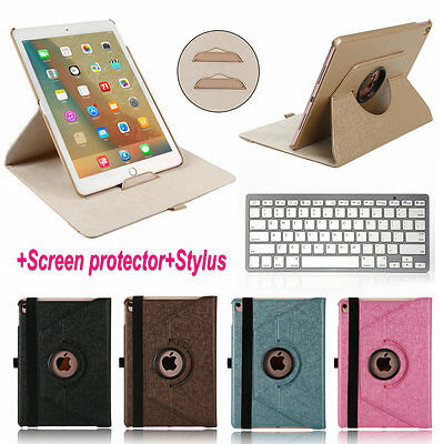 Bluetooth Keyboard+360 Rotating Folio Smart Leather Case Cover For iPad Pro 9.7""