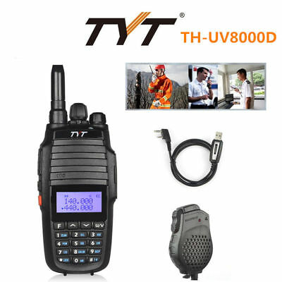 TYT UV8000D 1000CH V/UHF 10W HP Cross-band Repeater Transceiver + Cable &Speaker
