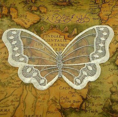 FD1727 Lace Embroidery DIY Sewing Craft Collar Patch Appliques ~Butterfly~ 1PC