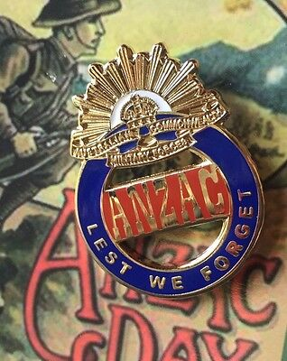 ANZAC Lest We Forget Lapel Pin *ANZAC DAY* New 2016 30mm x 20mm NEW DESIGN