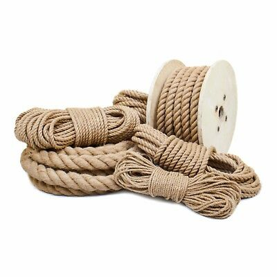JUTE ROPE impregnated natural fibre three strand laid twisted sailing transport