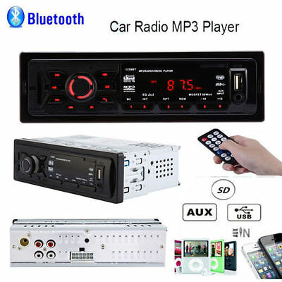 Car Stereo Audio In-Dash FM Aux Input Receiver SD USB MP3 Radio Bluetooth Player