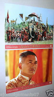 "Set of 10 ANNA AND THE KING {Jodie Foster} 11 x 14"" Original Film Lobby Card 90s"