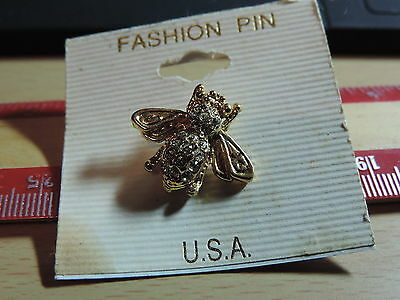 Jeweled Bee Lapel Hat Pin 19E