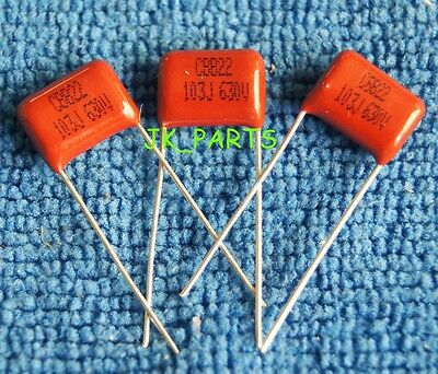 80 Pcs Axial Film Capacitor Assortment 630V  0.001-1.0uF Elecsound CBB20