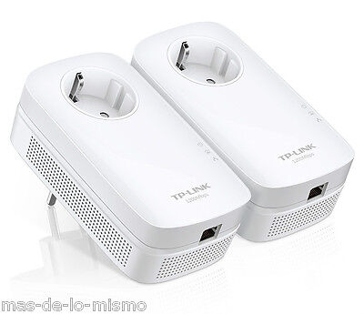 Adaptador Powerline TP-Link TL-PA8010P Kit 2Uds HomePlug AV PLC 1200Mbps GigaBit