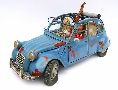 "GUILLERMO FORCHINO - Comic Art Skulptur ""The Bohemian - ENTE 2CV"" FO85066 NEU !!"