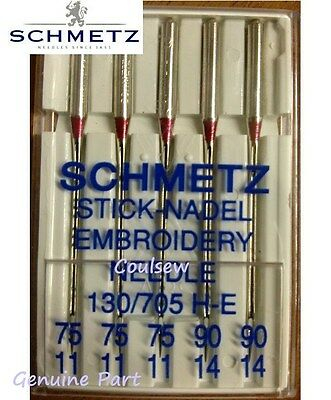 BROTHER EMBROIDERY SEWING MACHINE NEEDLES SCHMETZ Size 75 & 90 MIXED