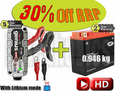 Lithium Deal - Battery + charger - Ducati 848 848  - 2010