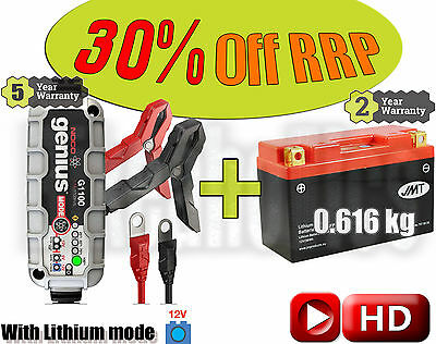 Lithium Deal - Battery + charger - Suzuki DR-Z 400 S - 2007