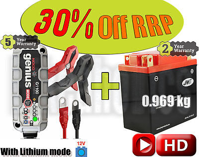 Lithium Deal - Battery + charger - Buell XB12S 1200  Lightning- 2004