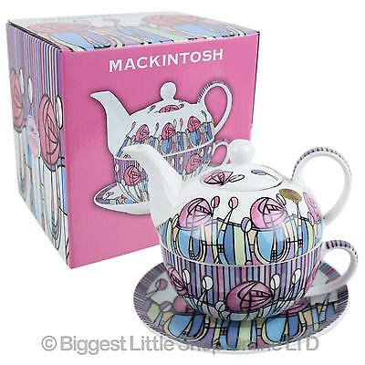 NEW Classic Tea For One by Leonardo Mackintosh Pink Roses Kitchen GIFT Boxed