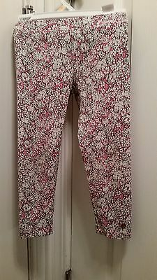 Juicy Couture Girl's Designer Adorable Pink Floral Leggings 4