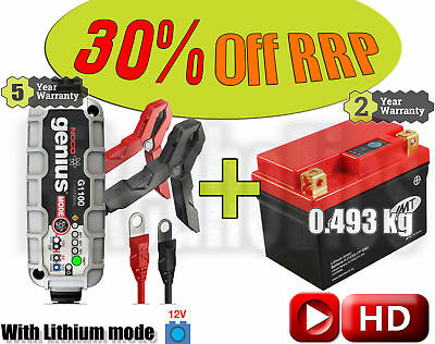 Lithium Deal - Battery + charger - Honda CRF 250 X - 2012