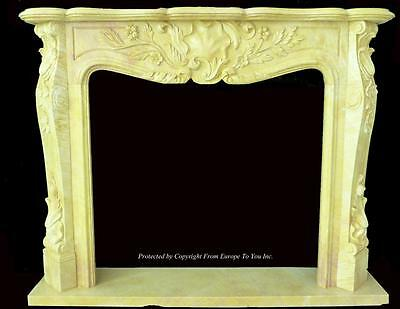 Beautiful Hand Carved Marble European Design Marble Figural Fireplace Mantel Z3