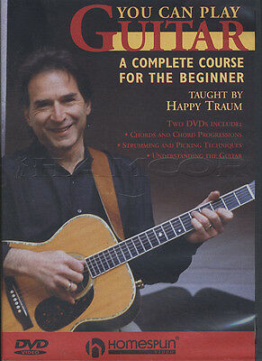 You Can Play Guitar A Complete Course Learn How to Play Tuition 2 DVD Set