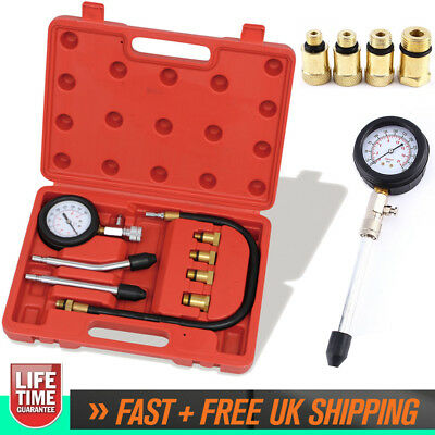 Automotive Petrol Engine Compression Tester Set Valve Timing Gauge Pro Cylinder