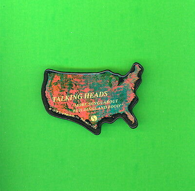 Talking Heads diecut 1978 pinback button badge X More Songs About Buildings Food