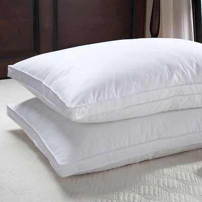 New Luxury Duck Down Hotel Quality Pillow pair,Extra Comfortable Filling