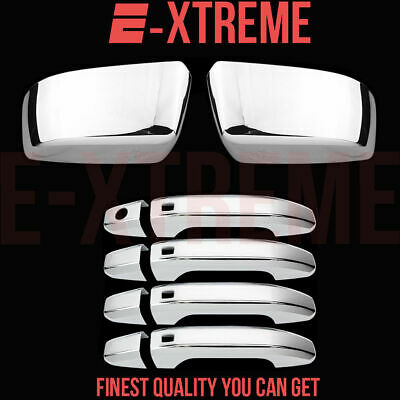 For Chevy 2015 16 17 18 Suburban Ls/lt/ltz 4Drs Handle+Top Mirror Chrome Covers