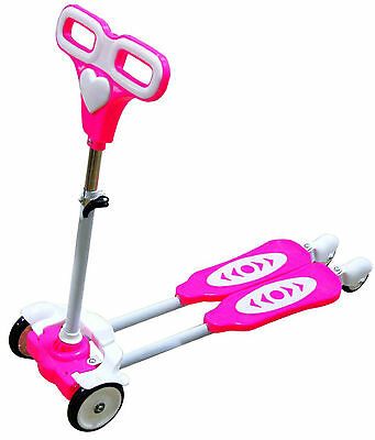 Four Wheel Scooter for kids Pink frog motion back wheels with light new model