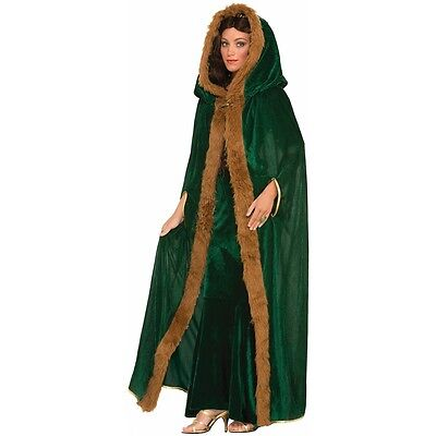 Medieval Costume Womens Cloak Adult Game of Thrones Cape Halloween Fancy Dress